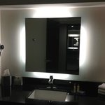 room 321 bathroom / spotless with cool mirror back light