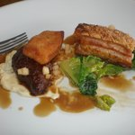 The pork belly and pig cheek...Yum! It looked prettier but I couldn't wait!