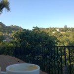 Morning coffee on the deck with spectacular views