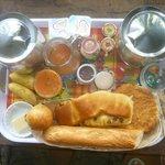 petit déjeuner local