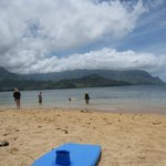 Beach area below resort - Hanalei Bay