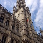 Looking up in the Grand Place