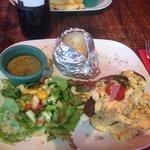 Steak, Hollandaise Sauce, Asparagus & Prawns - Amazing