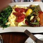 en het (forse) Veggie Breakfast