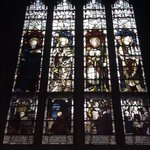 stained glass from the inside