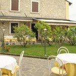 Der wunderschöne Garten mit Oliven- und Zitronenbäumen