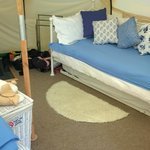 Blue Bell Tent day bed