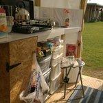Blue Bell Tent kitchen/porch area
