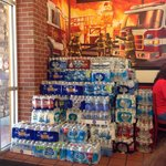 More bottled water donations for local firefighters.