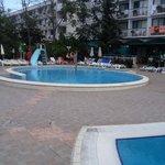 Small pool at hotel zefir