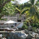 Vista di un bungalow fronte mare