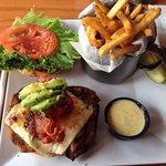 Double Pepper Chicken Sandwich with fries...Mmmmmm