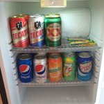 Mini bar...ask to have it restocked, but the Tecate is horrible :(