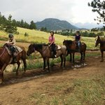 Our family on the 2 hour trail ride