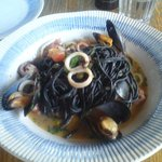 Squid, Mussels, Octopus, Black Spaghetti.