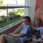 Boys on hammock