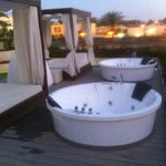 Private jacuzzi on terrace