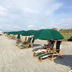 The rental chairs and umbrellas that get blanketing on the entire beach before you wake up