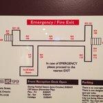 Floor Plan.  We were in room 111