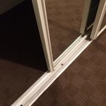 The sliding doors of the wardrobe