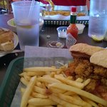 All 3 items were good, fries need a little cajun seasoning.  Decent amount of oysters and the To