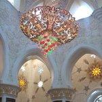 MEZQUITA ABU DHABI-LAMPARA DE SWAROVSKI GRANDE