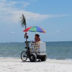 Icecream cart at the beach