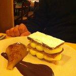 milleofglie con cioccolato e pera