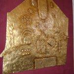 placa revestida en oro