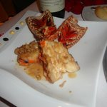Omar's lobster tails with garlic sauce. So delicious!