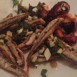 Absolutely delicious anchovies and octopus!