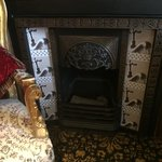 Ruby room fireplace