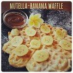 Nutella-Banana Waffle
