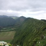 Almost sheer caldera cliffs