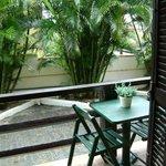 imagen del balcón de la habitación