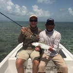 Ken and me with my largest bonefish.