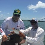 My son and Ken with his first bonefish.