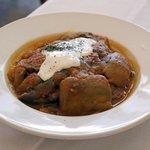 Badenjan Challaw - lamb (rice, bread incl)