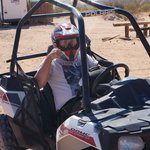 My son after the first part of the ATV'ing