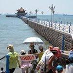 桟橋は波が高くて、立入禁止だが・・・