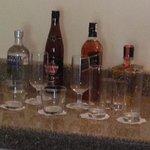 Liquor that comes with wet bar of duplex suite