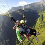 Paragliding off the mountain