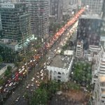View from the Club Lounge - rush hour traffic