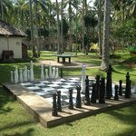 giant chess board!