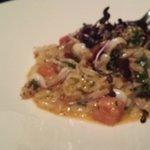 Calamari with Risonni and Chorizo