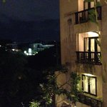 hotel rooms at night