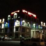 night view of hotel