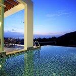 Evening Andaman sea view in Kata Beach from villa's Pool
