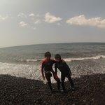 Both boys on Tulamben shore