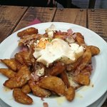 Gourmet Wedges with bacon, cheese and sour cream delicious!!!!
